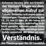Plattdeutsches Theater des SC Viktoria Lavelsloh               – ABGESAGT –